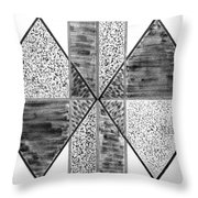 Study Of Texture Line And Materials Throw Pillow