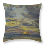 Study Of The Sky With Setting Sun Throw Pillow