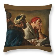 Study Of Three Figures Throw Pillow