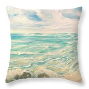 Study Of Tropical Blue Throw Pillow