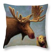 Study Of Two Mammals Throw Pillow