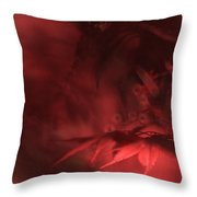 Study Of Uplit Leaves Throw Pillow