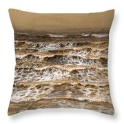 Study Of Waves Throw Pillow