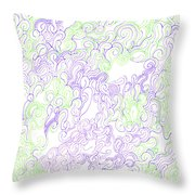 Study Purple And Green Throw Pillow