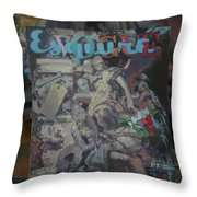 Study To The Vogue Esquire  Throw Pillow