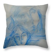 Studying People Throw Pillow