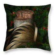 Stump And Frond Throw Pillow