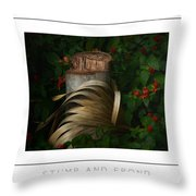 Stump And Frond Poster Throw Pillow