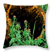 Stump Transformed Throw Pillow