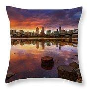 Stumptown Sunset Throw Pillow
