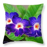 Stunning Blue Flowers Throw Pillow