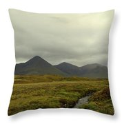 Stunning Countryside In Cuillen Hills With Large Mountains  Throw Pillow