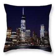 Stunning Nyc Skyline At Night Throw Pillow