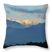 Stunning Photo Of The Countryside With Mountains  Throw Pillow