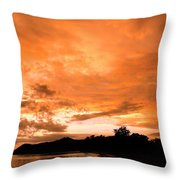 Stunning Tropical Sunset Throw Pillow