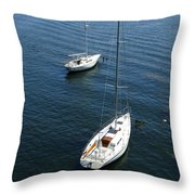 Sturgeon Bay Canal Mooring Throw Pillow