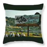 Sturgis City Of Riders Throw Pillow