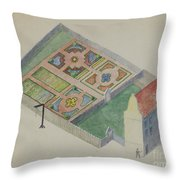 Stuyvesant's Great House Throw Pillow