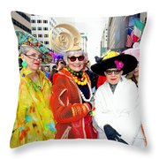 Style Knows No Age Throw Pillow