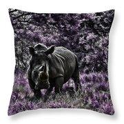 Styled Environment-the Modern Trendy Rhino Throw Pillow