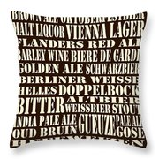 Styles Of Beer Throw Pillow