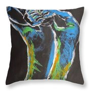 Styling Her Hair 1 - Female Nude Throw Pillow