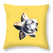 Stylized Abstract Light Throw Pillow