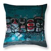 Stylized Salmon Throw Pillow