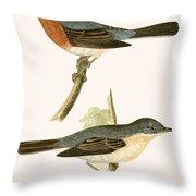 Sub Alpine Warbler Throw Pillow