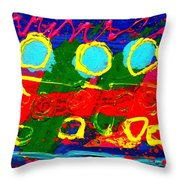 Sub Aqua I - Triptych Throw Pillow
