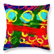 Sub Aqua II - Triptych Throw Pillow