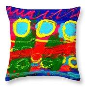 Sub Aqua IIi - Triptych Throw Pillow by John  Nolan