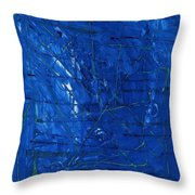 Subatomic Particles In Blue State Throw Pillow