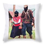 Subcommandante Marcos And Ramona Throw Pillow