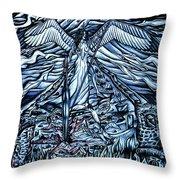 Subconscious Conflicting Battle Throw Pillow