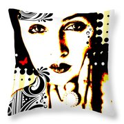 Subjected To Ink Throw Pillow