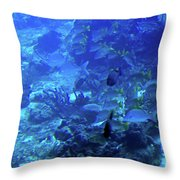 Submarine Underwater View Throw Pillow