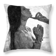 Submission In Black - Obey Throw Pillow