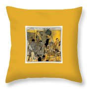 Submitted Cd Cover For The Band Bebop Complex 50's Jazz Revisited Throw Pillow