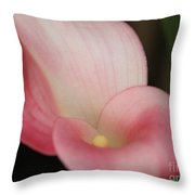 Subtle Calla Lily Throw Pillow