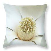 Subtle Southern Magnolia Throw Pillow