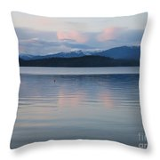 Subtle Sunset On Priest Lake Throw Pillow