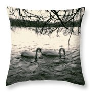 Subtle Swans  Throw Pillow