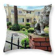 Suburban Antique House With Lion Hayward California 22 Throw Pillow