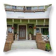 Suburban Arts And Crafts Style House Hayward California 15 Throw Pillow