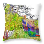 Suburban Home 3 Throw Pillow