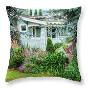 Suburban House Hayward, California 7, Suburbia Series Throw Pillow