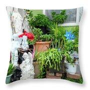 Suburban House With Front Yard Religious Shrine Hayward California 10 Throw Pillow