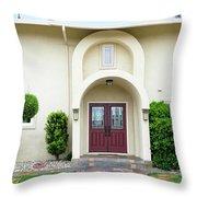 Modern Suburban House With Topiary Hayward California 31 Throw Pillow