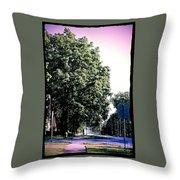 Suburban Tree Throw Pillow